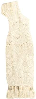 TABULA RASA Tuva hand-macramé silk and wool-blend dress