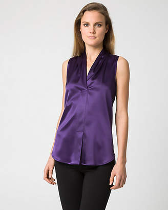 Le Château Satin Built-Up Neckline Blouse