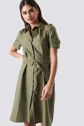 34614dc93d6 Khaki Buttoned Shirt Dress - ShopStyle