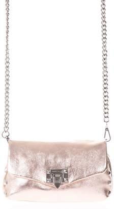 Marc Ellis Audrey Small Rosegold Laminated Leather Shoulder Bag