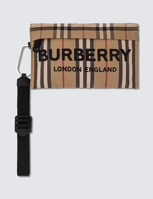 Burberry Nylon Check Zip Pouch