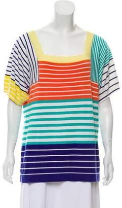 Trina Turk Stripe Short Sleeve Top