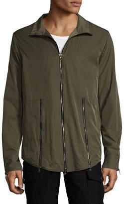 Miguel Antoinne Stand Collar Rain Jacket