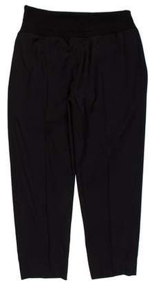 Christian Dior Elastic-Waistband Cropped Wool Pants