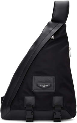 Givenchy Black One Shoulder Envelope Backpack