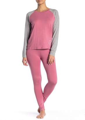 French Connection Raglan Henley & Leggings Pajama 2-Piece Set