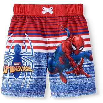 Spiderman Toddler Boys' Swim Trunk Board Shorts
