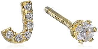 "Tai Initial ""J"" Post Stud Earrings"