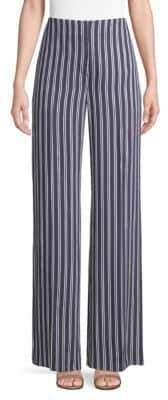 Diane von Furstenberg Wide-Leg Stripe Pants