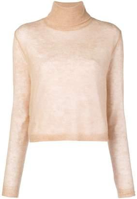 Alysi boxy roll neck sweater