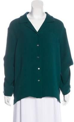 Rosie Assoulin Long Sleeve Button-Up Top