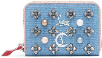 Christian Louboutin Panettone Pearl Blue Denim Coin Purse