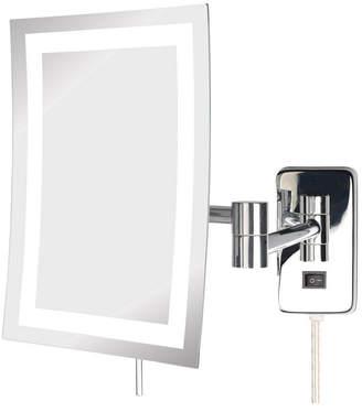 "The Jerdon JRT710CL 6.5"" x 9"" Led Lighted Wall Mount Rectangular Makeup Mirror Bedding"