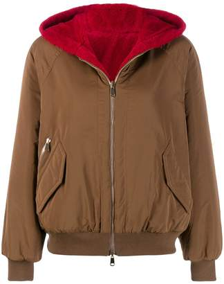 Brunello Cucinelli reversible hooded jacket