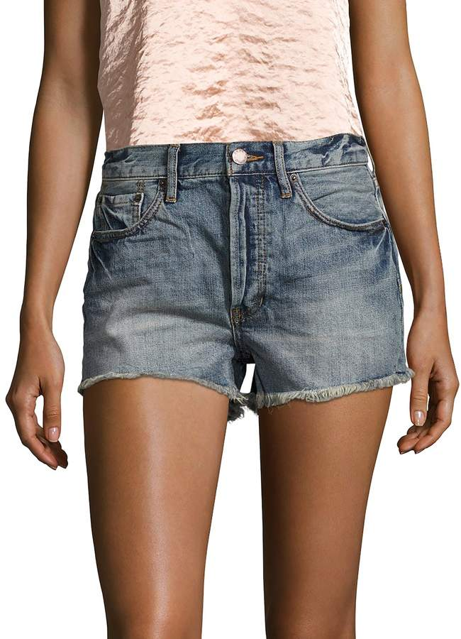 Free People Women's High-Rise Cut Off Denim Short