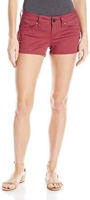 YMI Jeanswear Women's Wannabettabutt Single Button Cargo Short