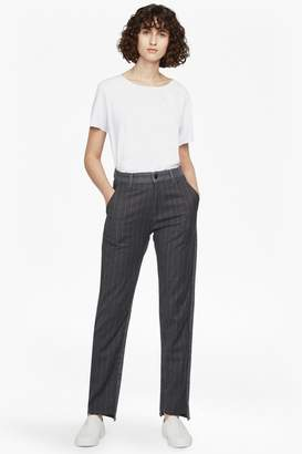 French Connection Pinstripe Mash Up High Rise Straight Jeans
