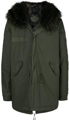Mr & Mrs Italy short hooded parka coat