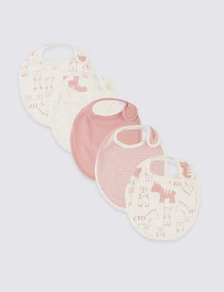 Marks and Spencer 5 Pack Organic Cotton Animal Bibs