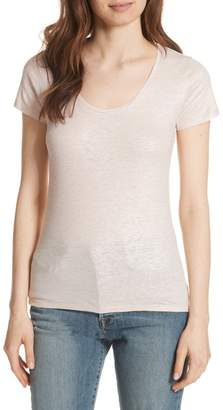 Majestic Metallic Scoop Neck Tee