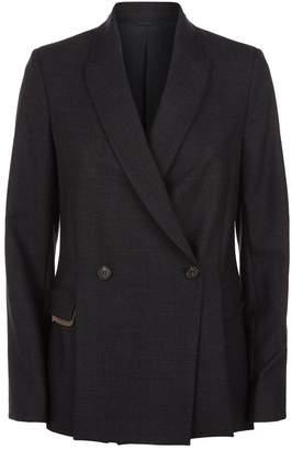 Brunello Cucinelli Monili Chain Wool Blazer
