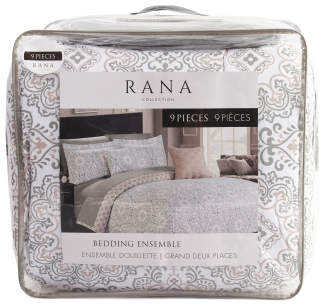 9pc Rana Comforter & Sheet Set