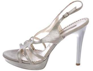 Stella McCartney Metallic Slingback Sandals