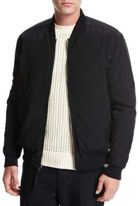 Vince Reversible Bomber Jacket, Black/Red $650 thestylecure.com
