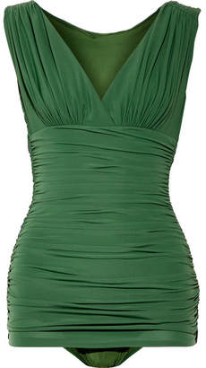 Tara Mio Ruched Swimsuit - Forest green