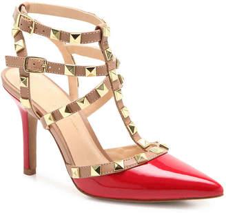 Jessica Simpson Dameera Pump -White Faux Patent Leather - Women's