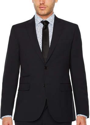 Jf J.Ferrar Checked Slim Fit Stretch Suit Jacket-Slim