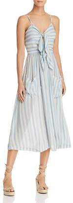 Rebecca Minkoff Derinda Striped Tie-Front Dress