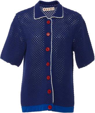 Marni Crochet Short Sleeve Cardigan