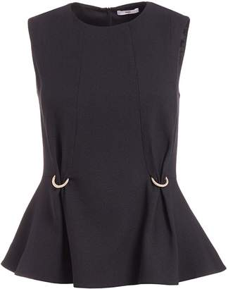 WtR - Fokine Black Sleeveless Peplum Top