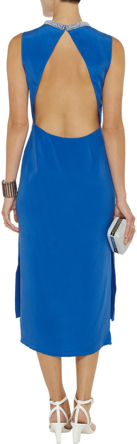 3.1 Phillip Lim Embellished backless silk-crepe midi dress