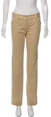 Dolce & Gabbana Mid-Rise Straight-Leg Pants Beige Mid-Rise Straight-Leg Pants