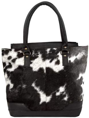 MAHI Leather - Pony Hair Leather Florence Tote in Black and White