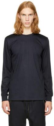 3.1 Phillip Lim Navy Long Sleeve Pinstripe Perfect T-Shirt