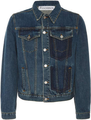 J.W.Anderson Two-tone Slim-Fit Denim Jacket