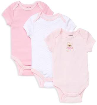 Little Me Girls' Bear Bodysuit, 3 Pack - Baby