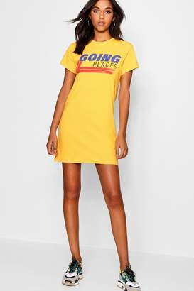 boohoo Going Places T-Shirt Dress