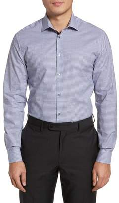 John Varvatos Slim Fit Stretch Check Dress Shirt