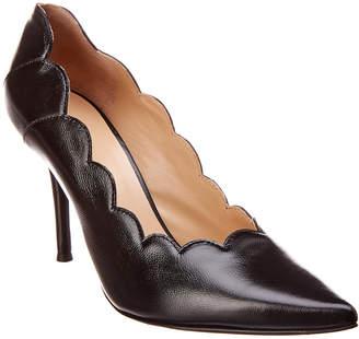 2027b6b9d Chloé Lauren Scalloped Pointy-Toe Leather Pump