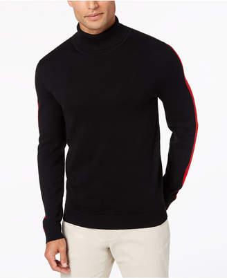 Alfani Men's Striped-Sleeve Turtleneck Sweater, Created for Macy's