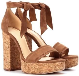 Alexandre Birman Celine suede plateau sandals