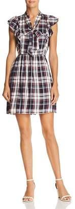 Aqua Plaid Tie-Neck Dress - 100% Exclusive