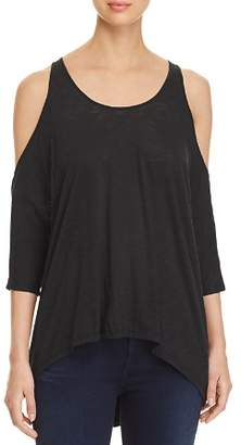 Elan International Cold-Shoulder Draped Top