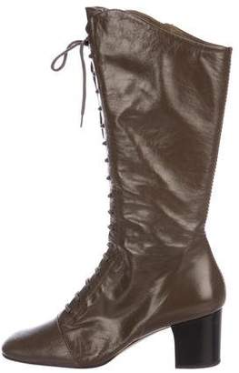 Marc Jacobs Lace-Up Knee-High Boots