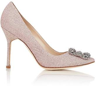 Manolo Blahnik Women's Hangisi Pumps $985 thestylecure.com