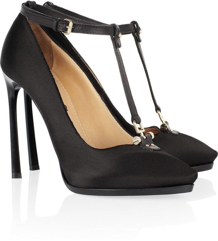 Lanvin Satin T-bar pumps